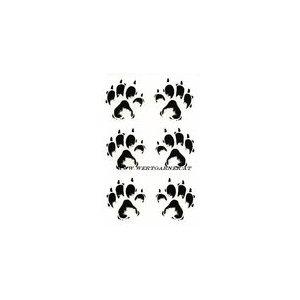 Aufkleber Wolfsspur wolf track