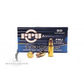 PPU 7,63 Mauser FMJ (7,63x25)